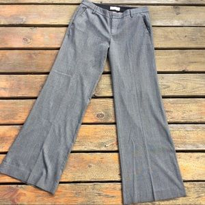 GAP Grey Glen Plaid Wide Leg Trouser with Stretch